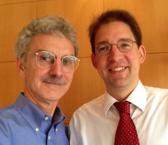John L. Welch of the TTABlog with Rolf Claessen